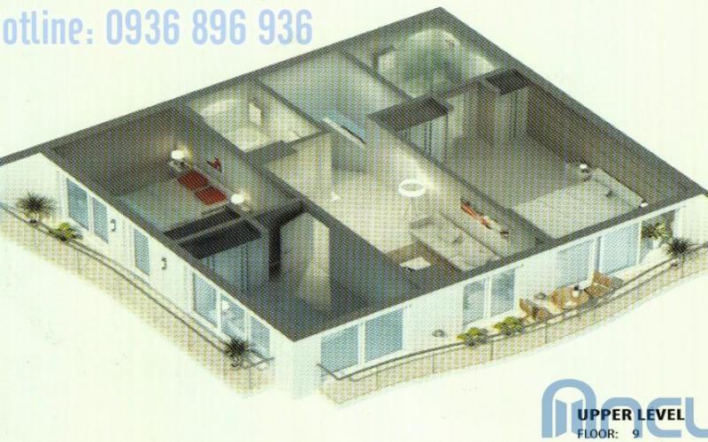 Căn hộ Sapphire 5-6 tòa golden westlake 4 phòng ngủ, tầng