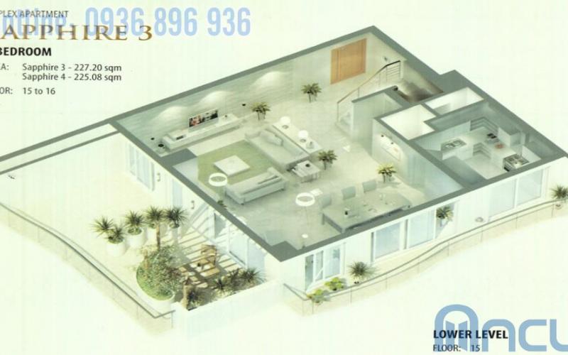 Căn hộ Sapphire 3-4 tầng 15-16